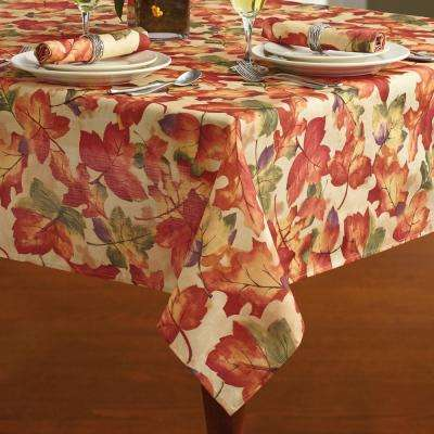 60 in. W x 144 in. L Multi Elrene Harvest Festival Polyester Fabric Tablecloth