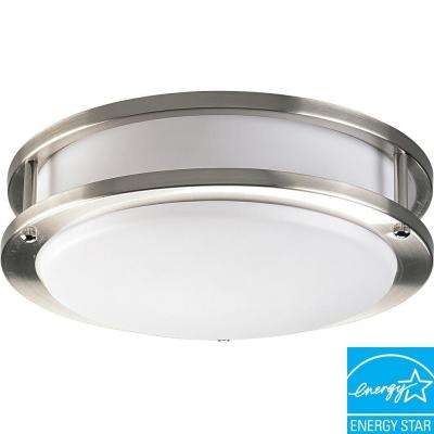 10.38 in. 1-Light Brushed Nickel Flushmount
