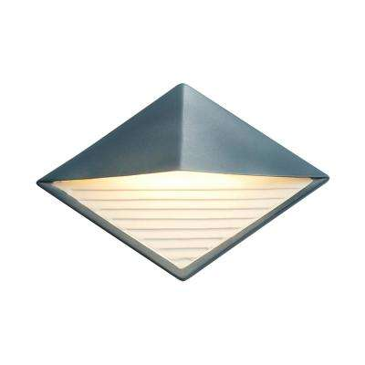 Ambiance Diamond Midnight Sky with Matte White Internal Outdoor Integrated LED Sconce