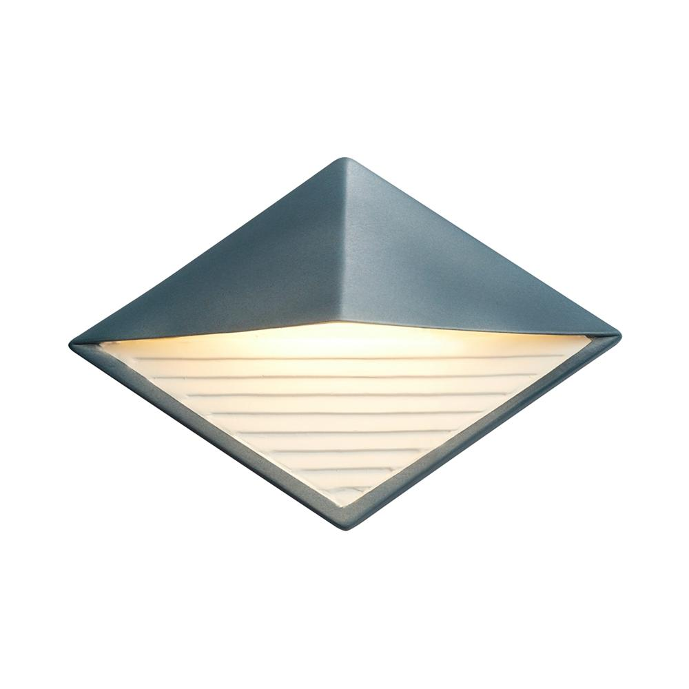 Justice Design Ambiance Diamond Midnight Sky with Matte White Internal Outdoor Integrated LED Sconce