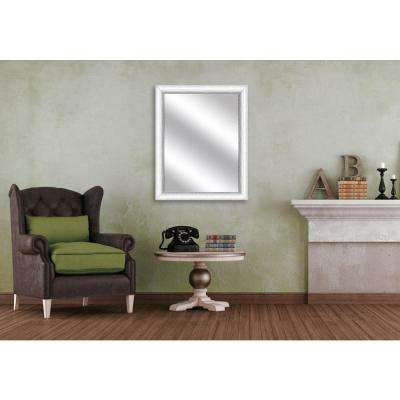 31.75 x 25.75 Framed Mirror in White
