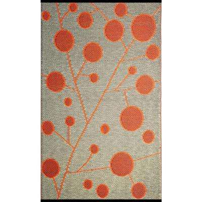 Cotton Ball Brown/Orange 4 ft. x 6 ft. Outdoor Reversible Area Rug