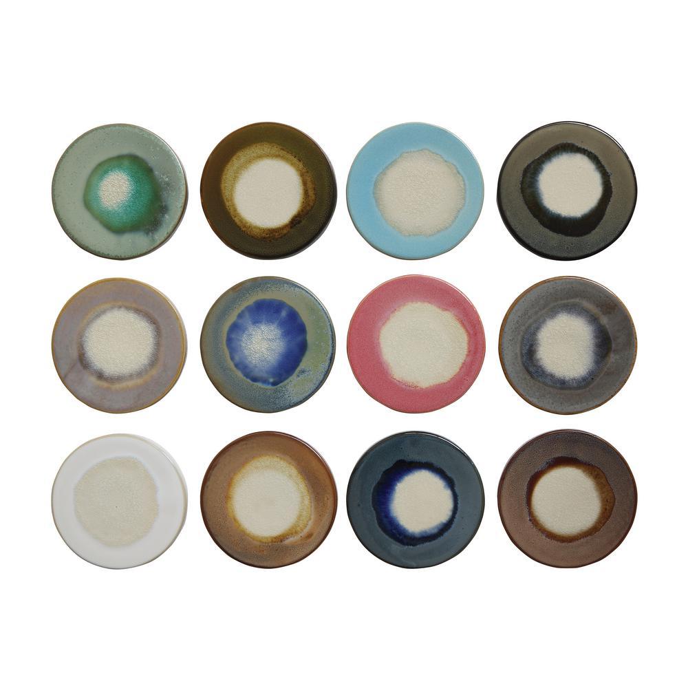12-Piece Round Stoneware Trivet Serving Board Set