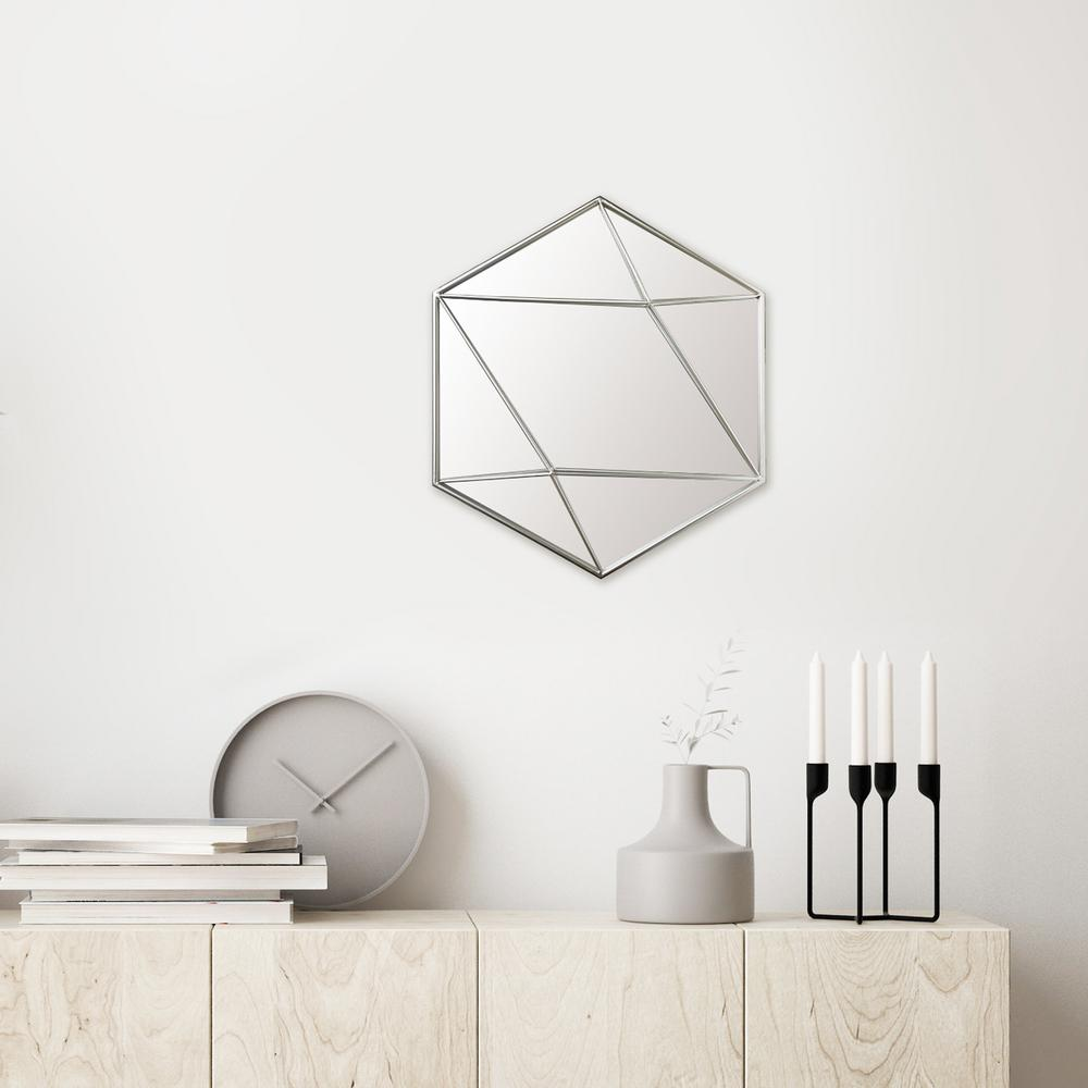 Hexagon Silver Decorative Mirror