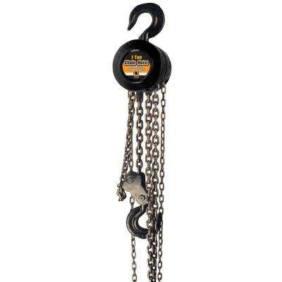 1-Ton 8 ft. Hand Chain Hoist