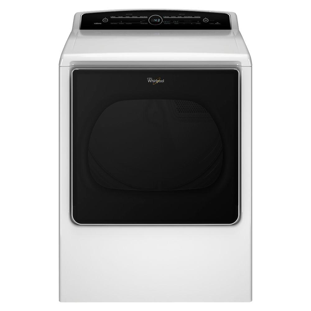 Whirlpool 8.8 cu. ft. Top Load High-Efficiency Gas Dryer with Intuitive Touch Controls in White, Steam Refresh