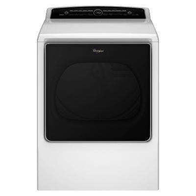 8.8 cu. ft. Top Load High-Efficiency Gas Dryer with Intuitive Touch Controls in White, Steam Refresh