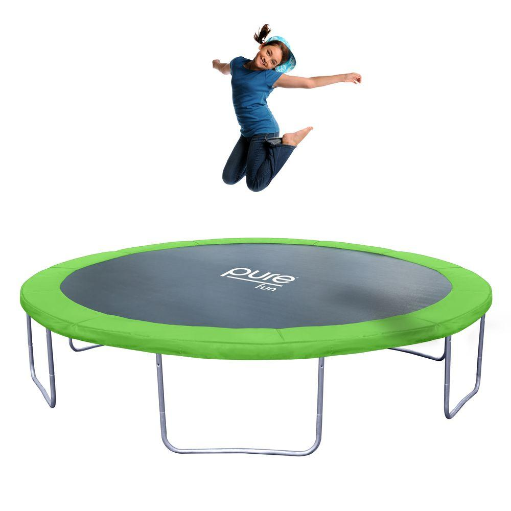 Pure Fun Dura Bounce 14 Ft Trampoline 9314t The Home Depot