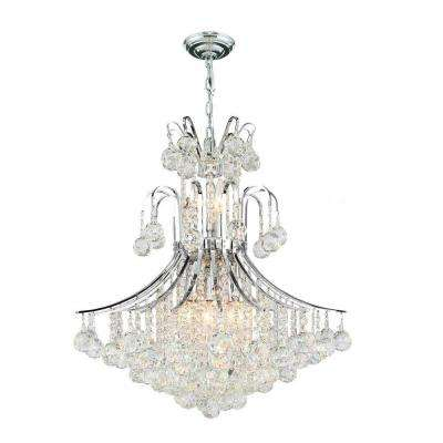 Empire Collection 11-Light Polished Chrome Crystal Chandelier