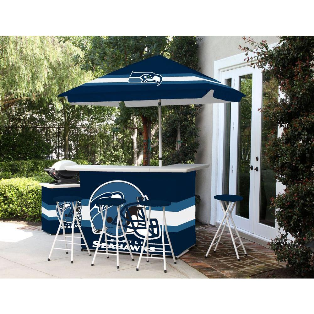 Best Of Times Seattle Seahawks 6 Piece All Weather Patio Bar Set With 6 Ft Umbrella 2003w1218
