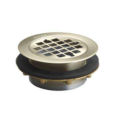 Brass Shower Drain in Vibrant Brushed Nickel