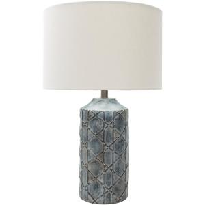 Audrey 26.75 in. Charcoal Indoor Table Lamp