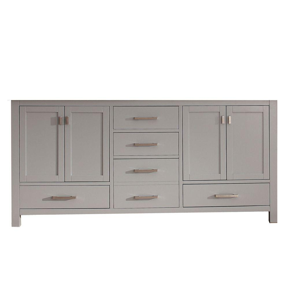 Genial Avanity Modero 72 In. Double Vanity Cabinet Only In Chilled Gray