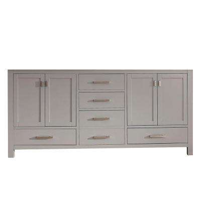Modero 72 in. Double Vanity Cabinet Only in Chilled Gray