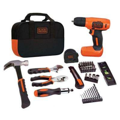 8-Volt MAX Lithium-Ion Cordless Rechargeable Drill and Project Kit (55-Piece) with Charger and Tool Bag