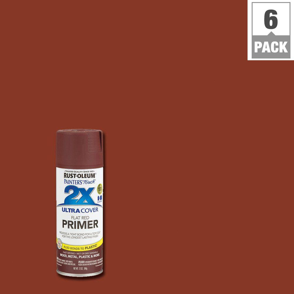 Rustoleum Spray Paint Colors For Metal Part - 42: Rust-Oleum Painteru0027s Touch 2X 12 Oz. Flat Red Primer General Purpose Spray  Paint