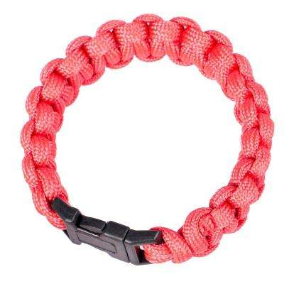 9 in. Polyester Survival Paracord Bracelet - Red