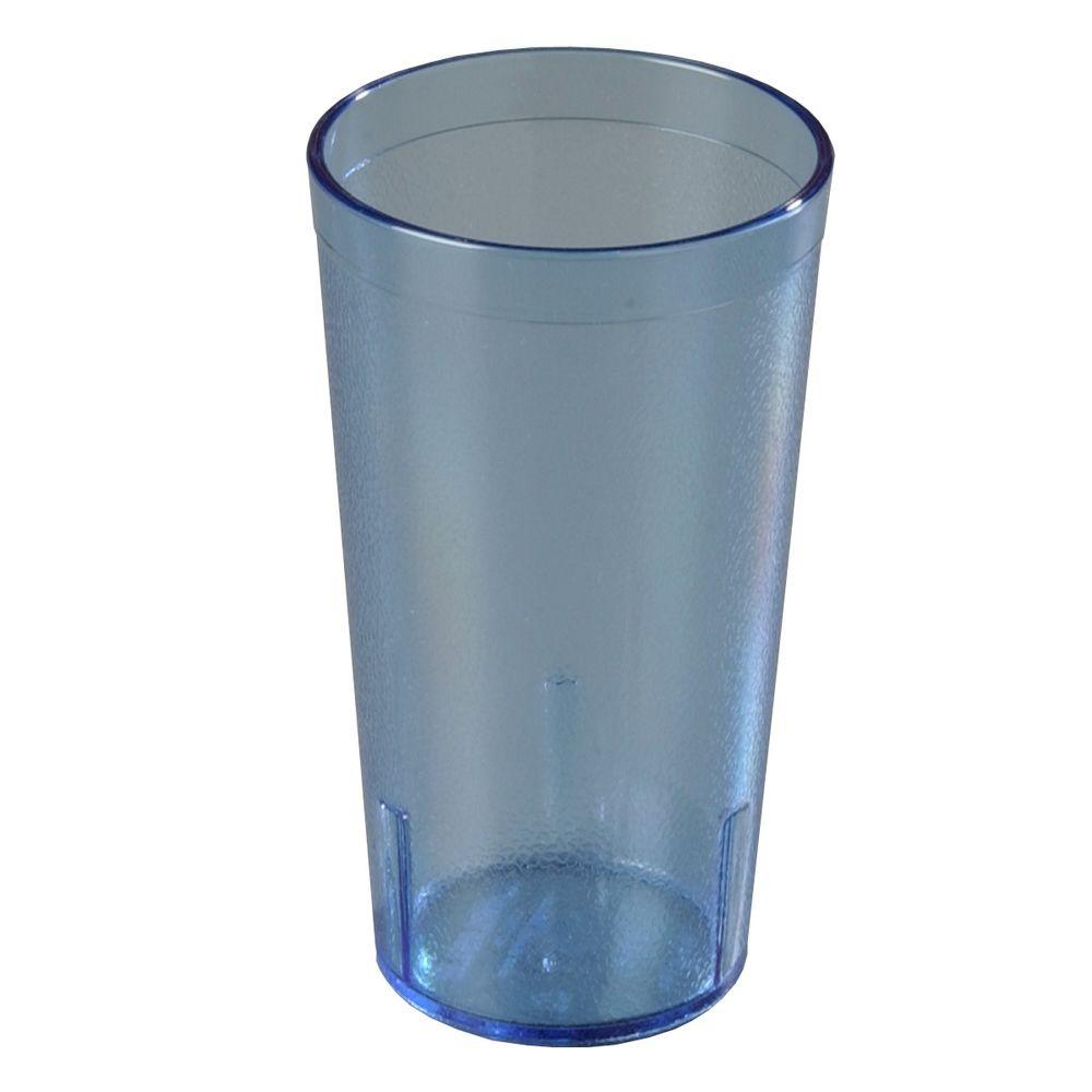 Carlisle 16 oz. SAN Plastic Stackable Tumbler in Translucent Blue (Case of 72)
