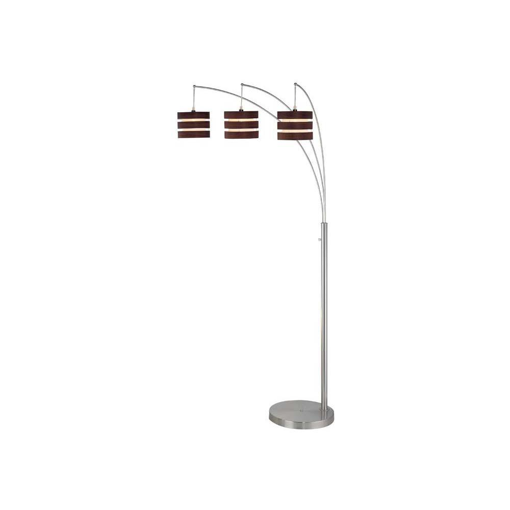 Filament design 785 in 3 light polished steel floor lamp for 3 light steel floor lamp