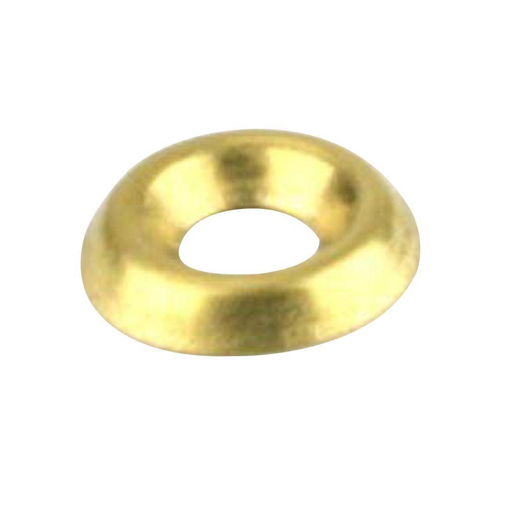 Everbilt #8 Brass Finishing Washer (4 per Pack)