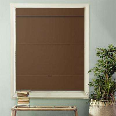 Cordless Magnetic Roman Shade / Window Blind Fabric Curtain Drape, Room Darkening, Thermal - Mountain Fabric