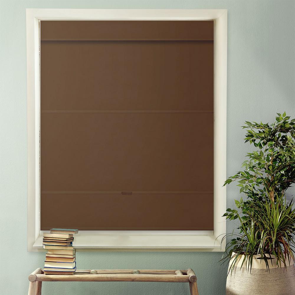 Cordless Magnetic Roman Shade / Window Blind Fabric Curtain Drape, Room Darkening, Thermal - Mountain Fabric