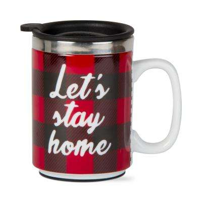 Let's Stay Home 16 oz. Red Insulated Travel Mug