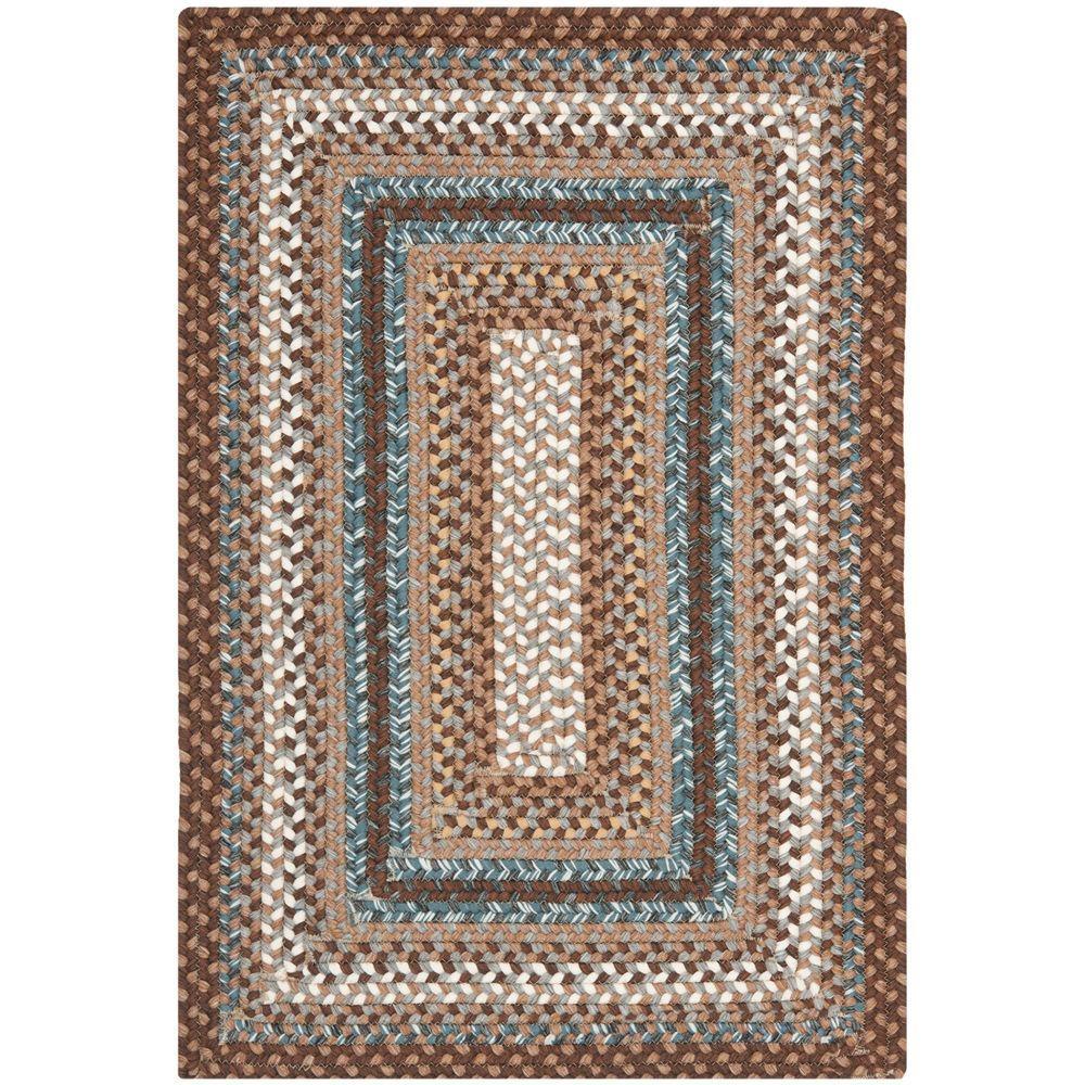 Safavieh Braided Brown/Multi 4 ft. x 6 ft. Area Rug