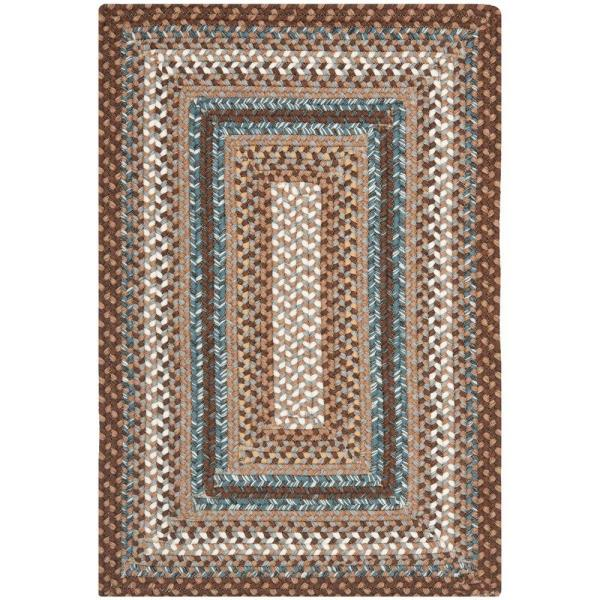 Safavieh Braided Brown Multi 4 Ft X 6 Ft Area Rug Brd313a 4 The Home Depot