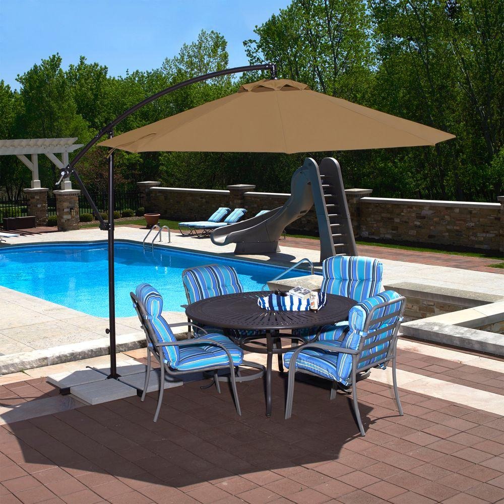 Island Umbrella Santiago 10 ft. Octagonal Cantilever Patio ...