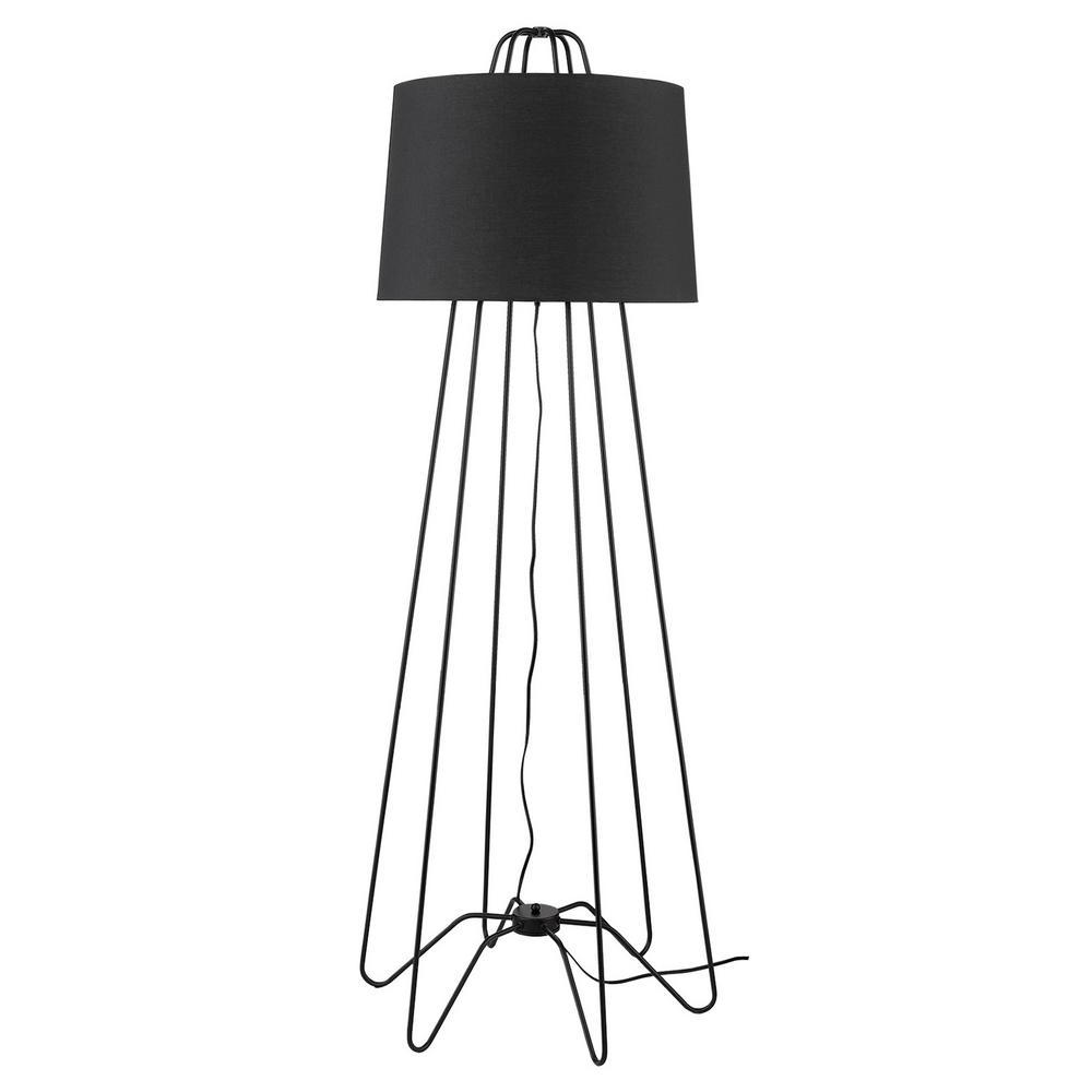 Lamia 64 in. 1-Light Matte Black Floor Lamp