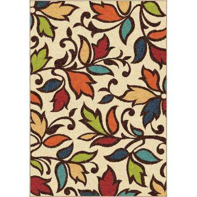 Dicarna Cream 5 ft. 2 in. x 7 ft. 6 in. Indoor Area Rug