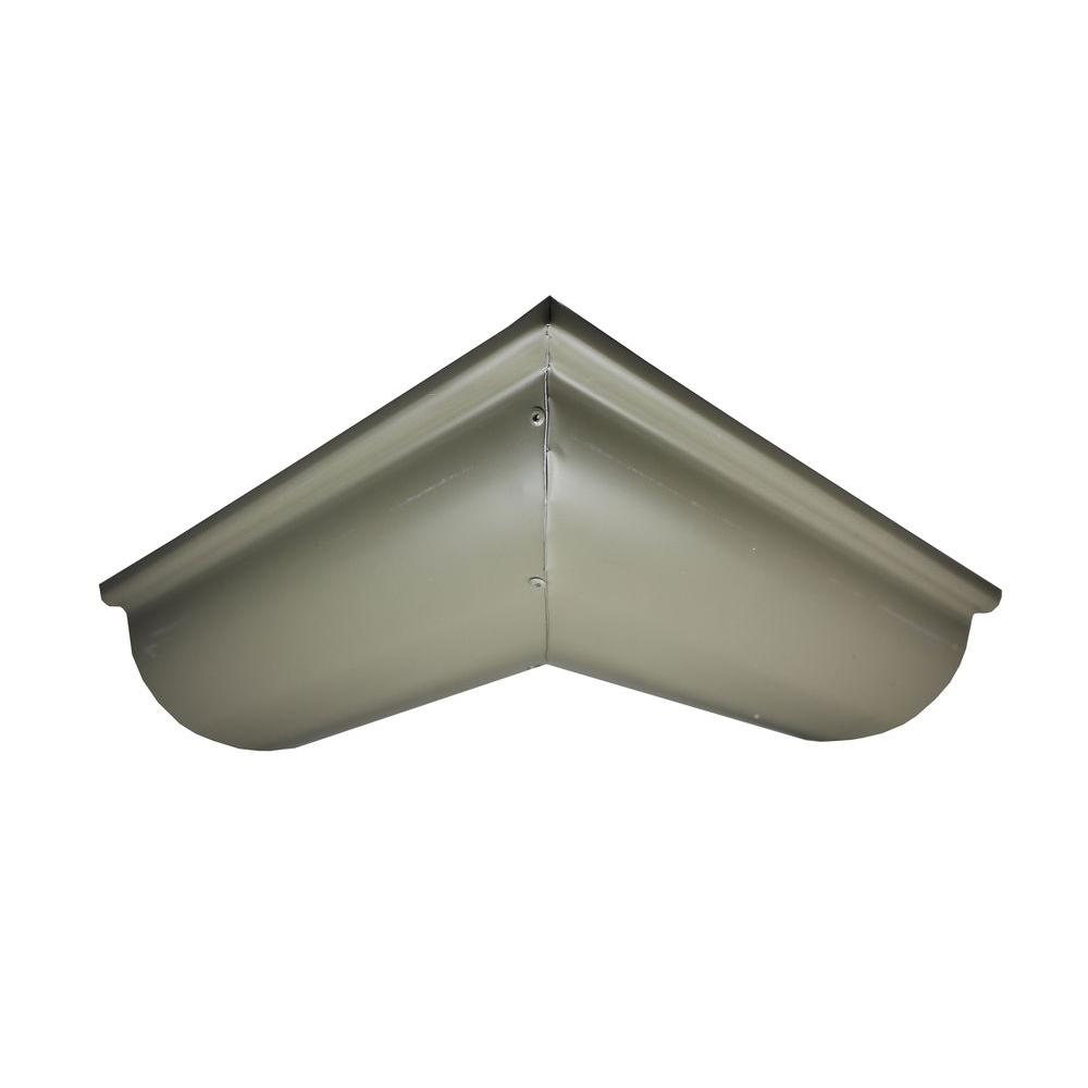 Spectra Metals 6 In Half Round Terratone Aluminum Outside