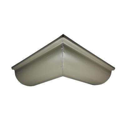 6 in. Half Round Terratone Aluminum Outside Miter