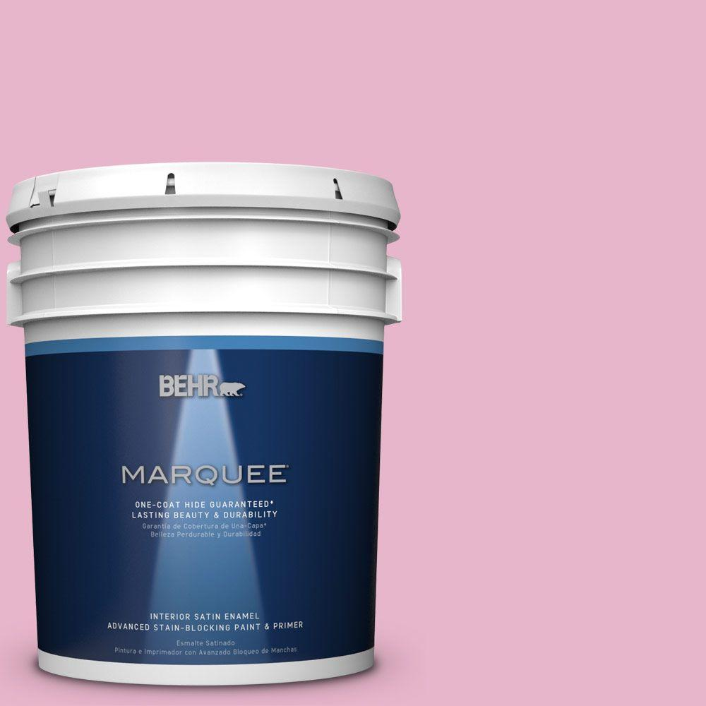 5 gal. #HDC-SP16-10 Japanese Rose Garden Satin Enamel Interior Paint