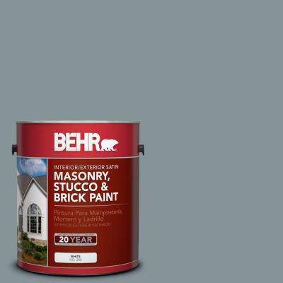 1-gal. #MS-68 Cape Storm Satin Interior/Exterior Masonry, Stucco and Brick Paint