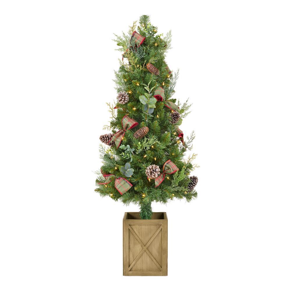 Mini Pre Lit Christmas Trees Artificial Christmas Trees The Home Depot