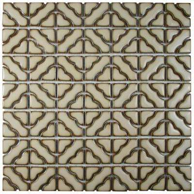 Tower Beige 12-1/2 in. x 12-1/2 in. x 5 mm Porcelain Mosaic Tile