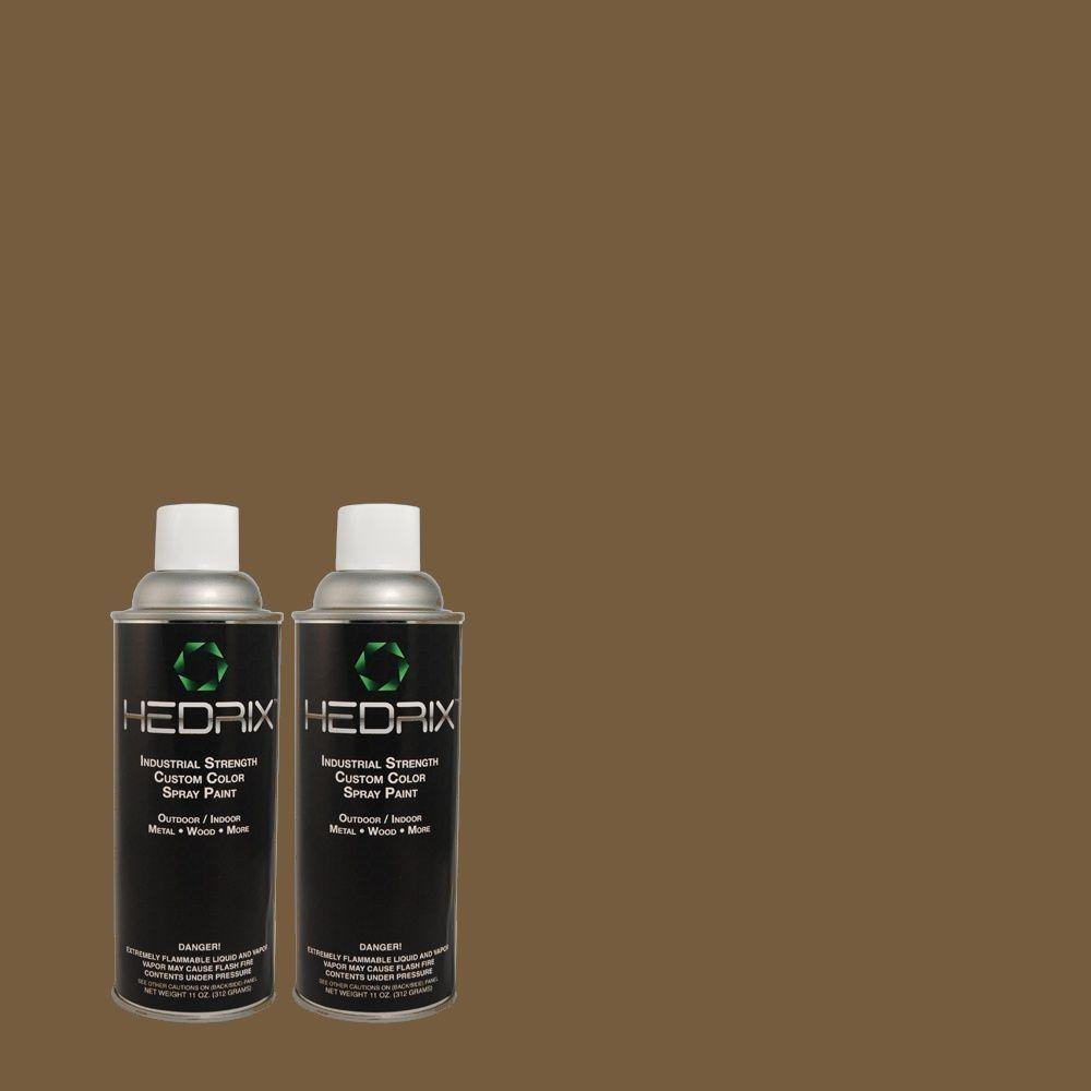 Hedrix 11 oz. Match of 740D-7 Frontier Shadow Low Lustre Custom Spray Paint (2-Pack)