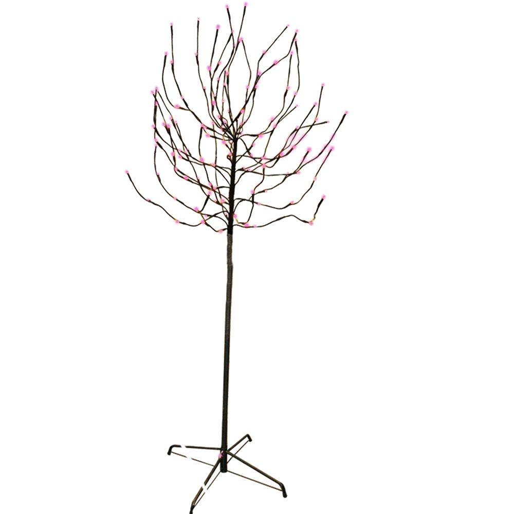 Sterling 5.5 ft. Pre-Lit LED Budded Artificial Christmas Tree with Pink Lights