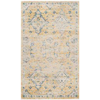 Evoke Gold/Ivory 2 ft. x 4 ft. Area Rug