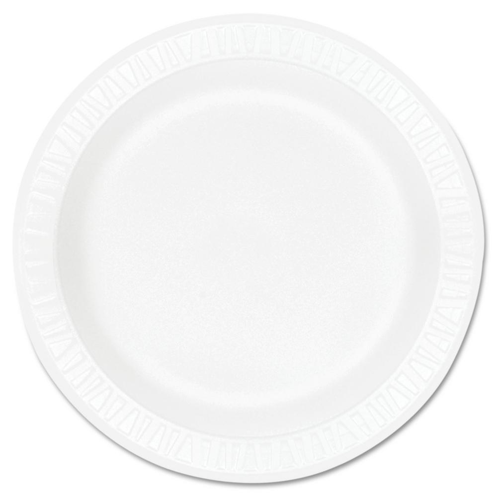 Concorde Non-Laminated Foam Plastic Plates, 10-1/4 in., White, 500 Per Case
