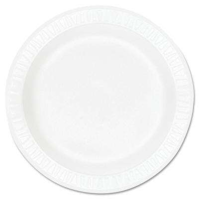 Concorde Non-Laminated Foam Plastic Plates, 10-1/4 in., White, 500 Per Case