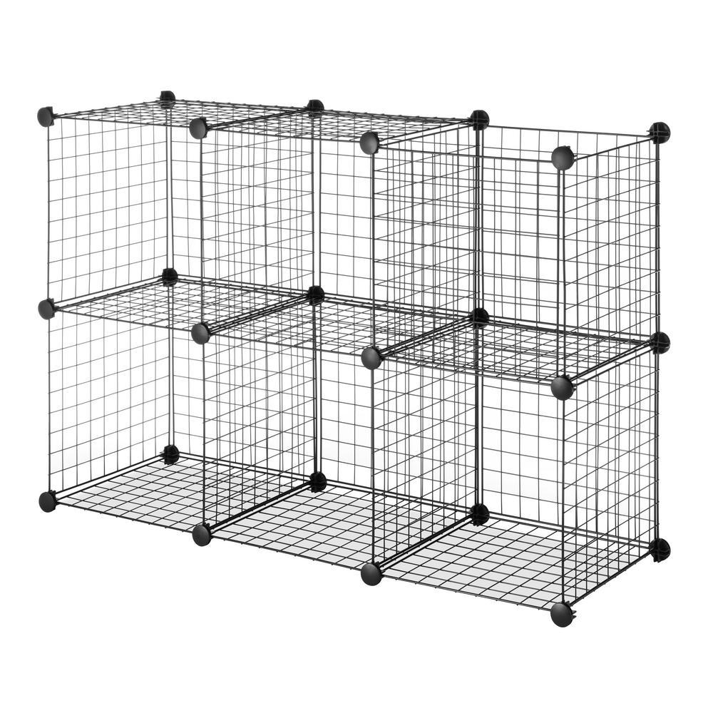Storage Cubes in Black (Set of 6)