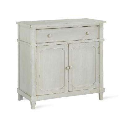 Sherwin Antique White Accent Cabinet
