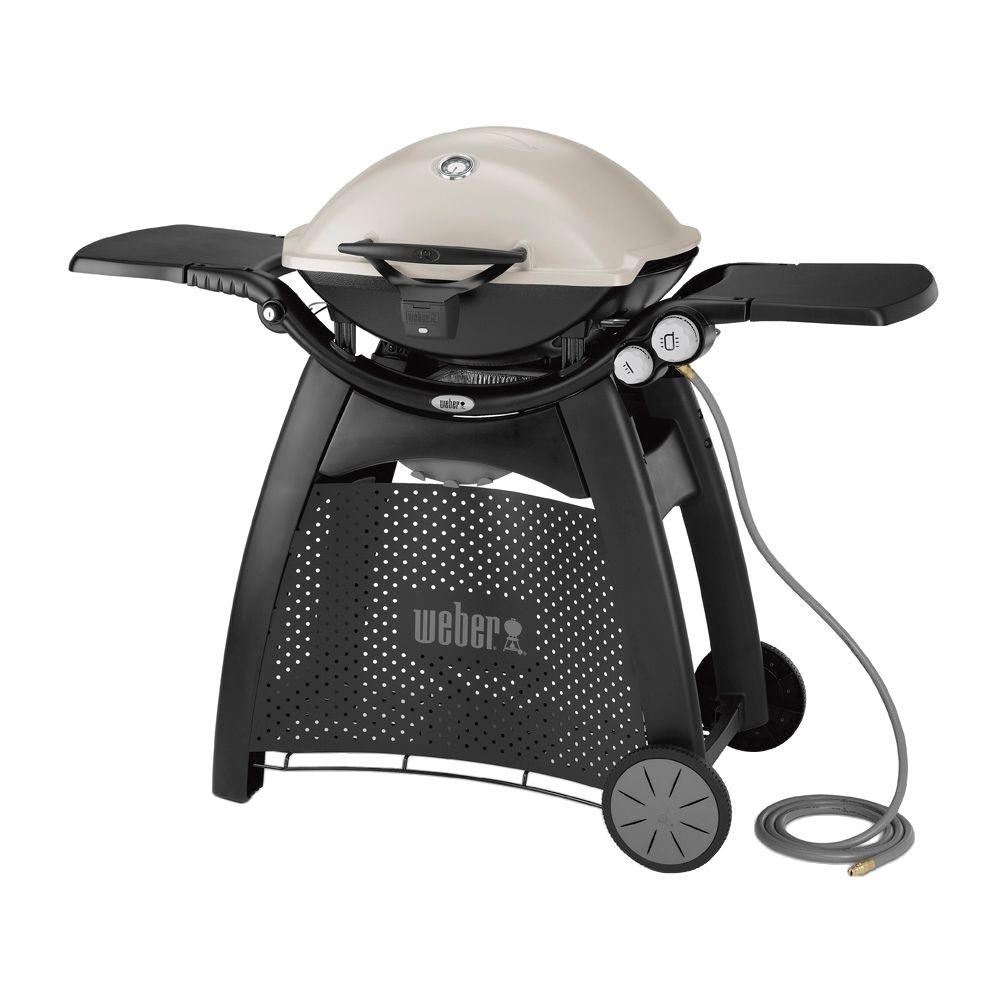 Weber Natural Gas Bbq.Weber Q 3200 2 Burner Natural Gas Grill In Titanium With Built In Thermometer