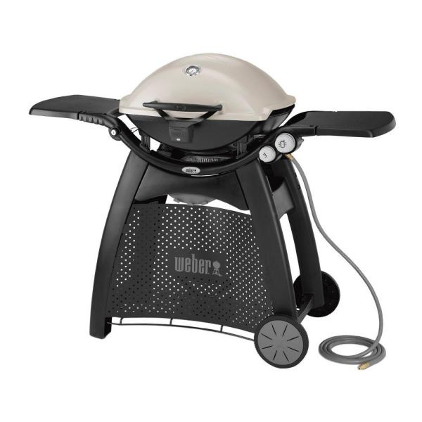 Q 3200 2-Burner Natural Gas Grill in Titanium with Built-In Thermometer