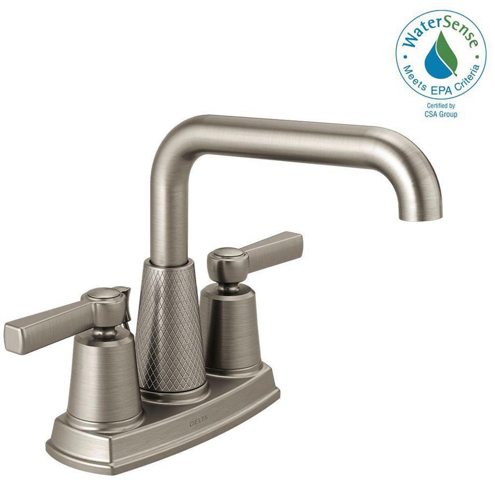 Delta Allentown 4 in. Centerset 2-Handle Bathroom Faucet in ...