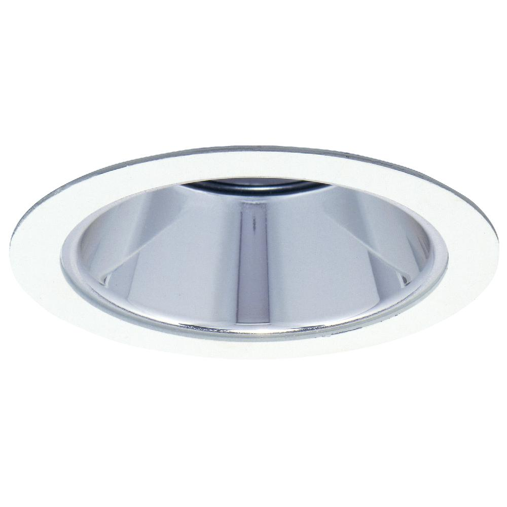 1421 Series 4 in. Specular Clear Reflector with White Recessed Trim