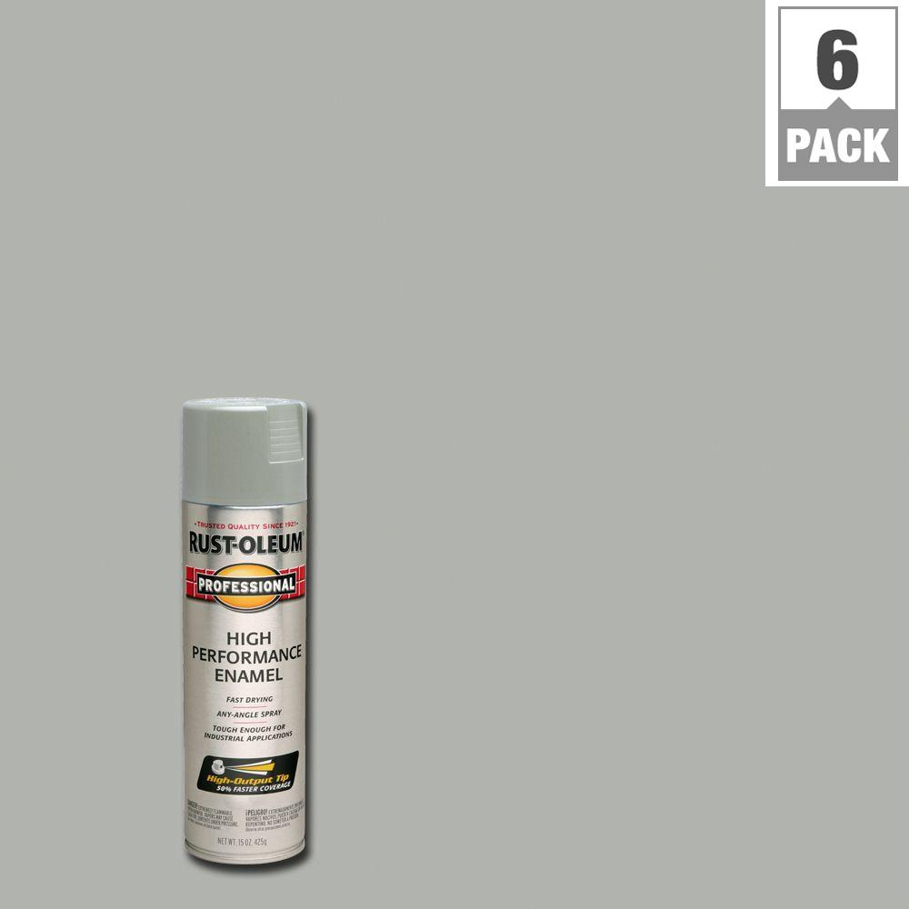 15 oz. Gloss Light-Machine-Gray Protective Enamel Spray Paint (6-Pack)
